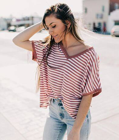 White Crow The Stripe Boyfriend T-Shirt