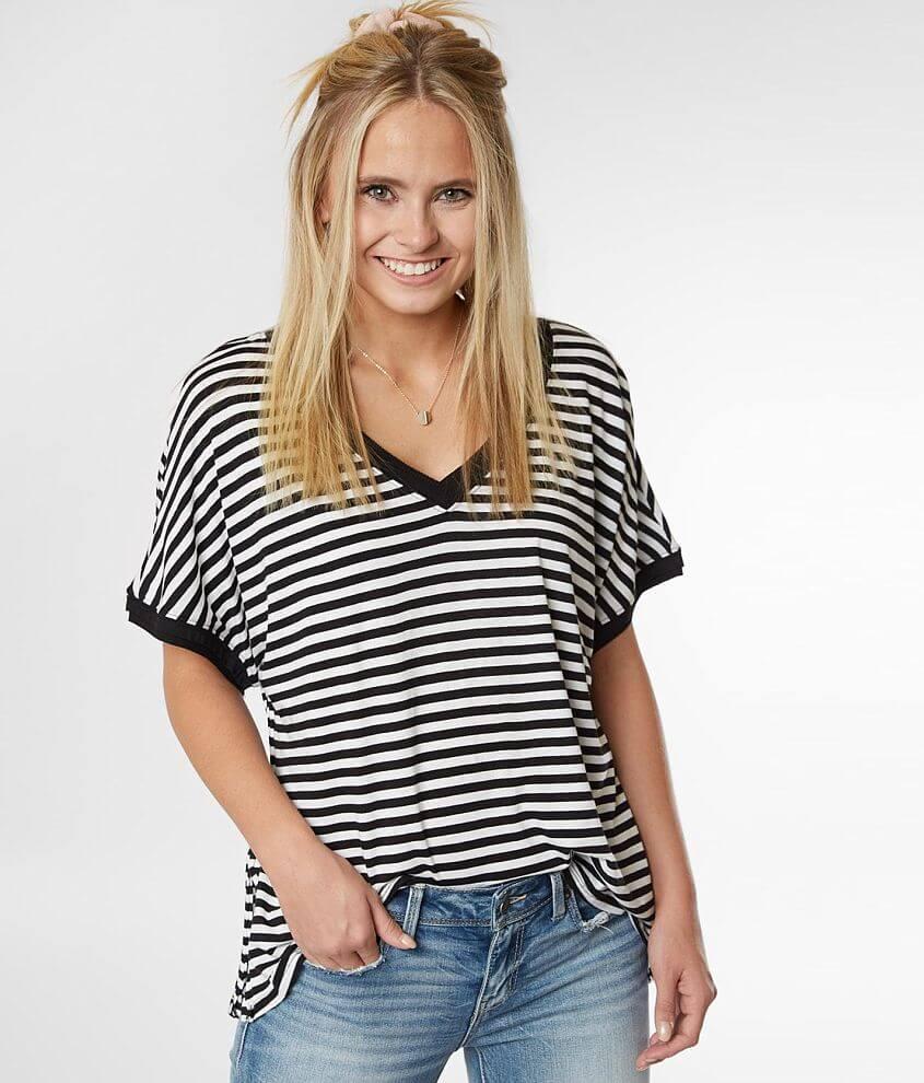 Z Supply The Stripe Boyfriend T-Shirt front view