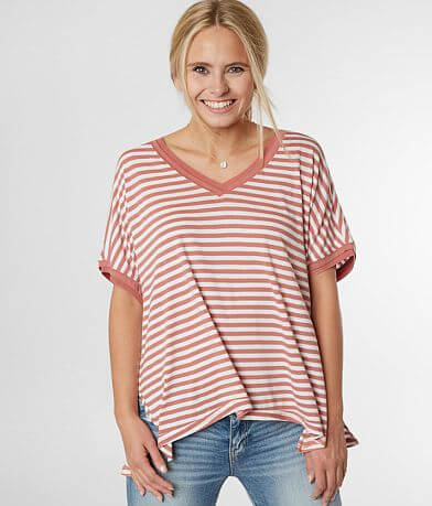 Z Supply The Stripe Boyfriend T-Shirt