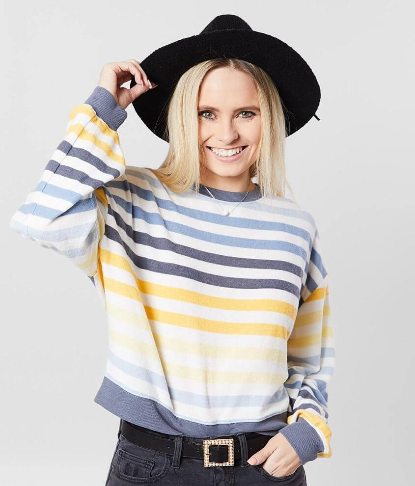 White Crow The Rainbow Striped Pullover front view