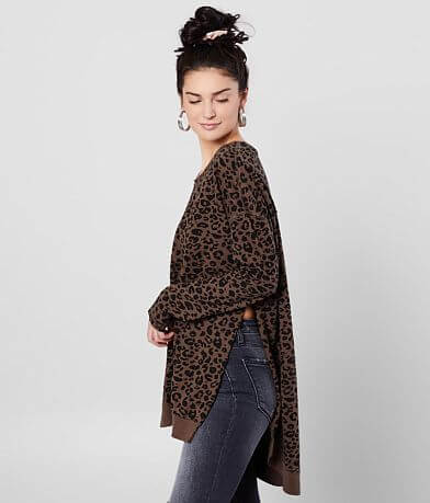 Z Supply The Leopard Weekender Pullover