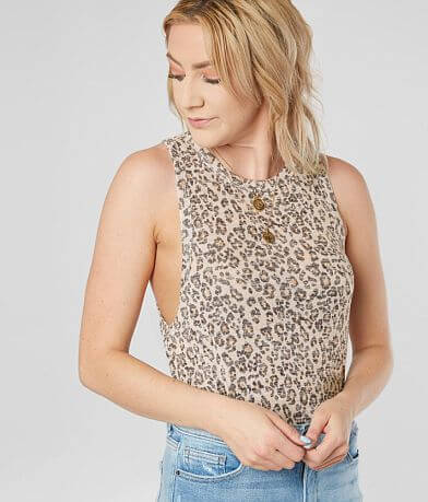 White Crow The Leopard Muscle Tank Top