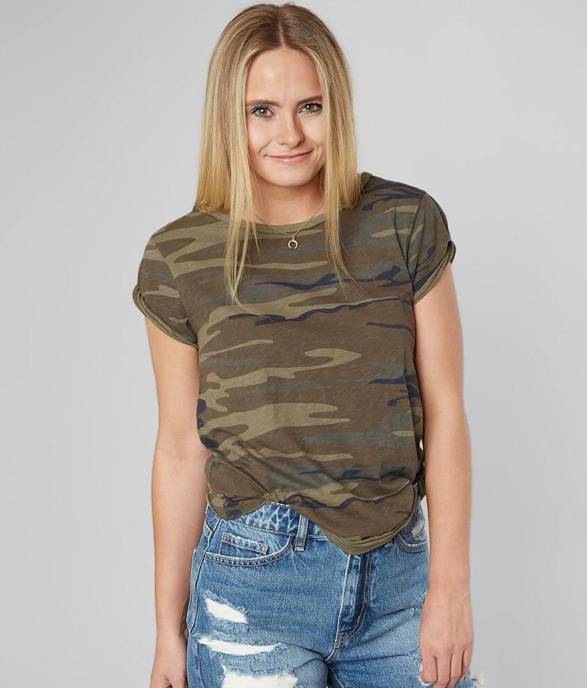 Z Supply Camo Slub Knit T-Shirt front view