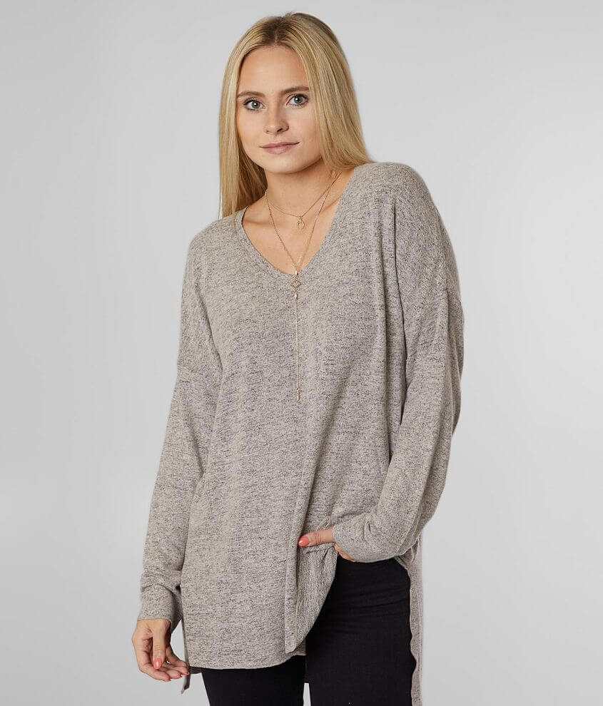 White Crow Marled Tunic Top front view