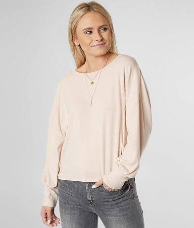 White Crow Drop Shoulder Top