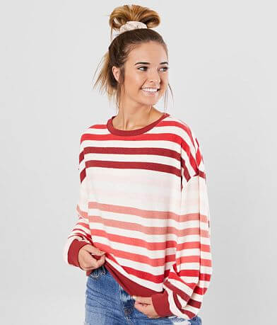 White Crow The Rainbow Striped Pullover