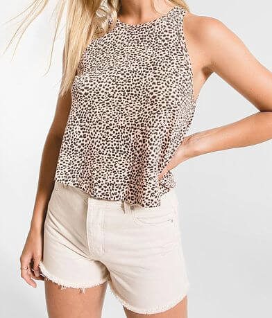 Z Supply The Mini Leopard Swing Tank Top