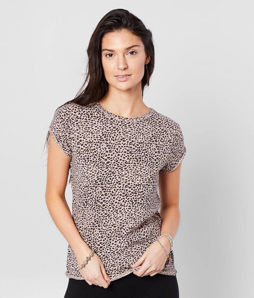 White Crow The Mini Leopard T-Shirt front view