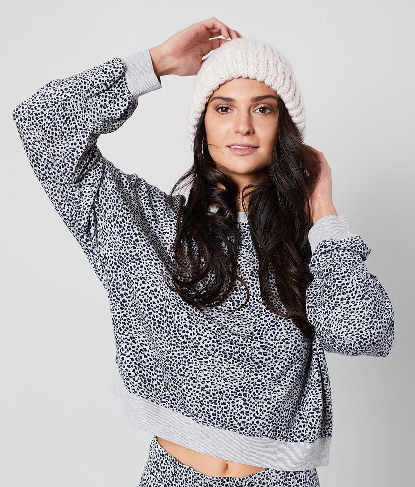 White Crow The Mini Leopard Pullover front view