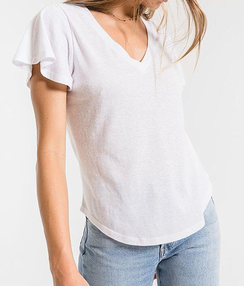 Z Supply The Triblend Flutter T-Shirt front view