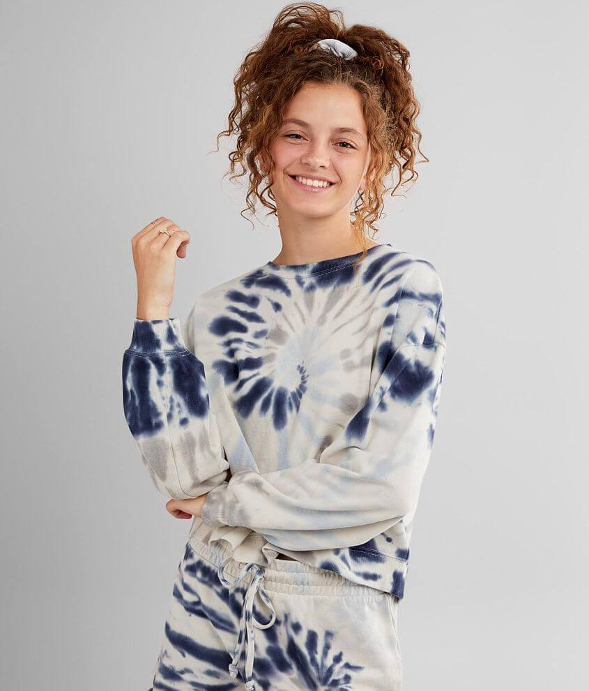 Z Supply The Tie Dye Pullover Sweatshirt front view