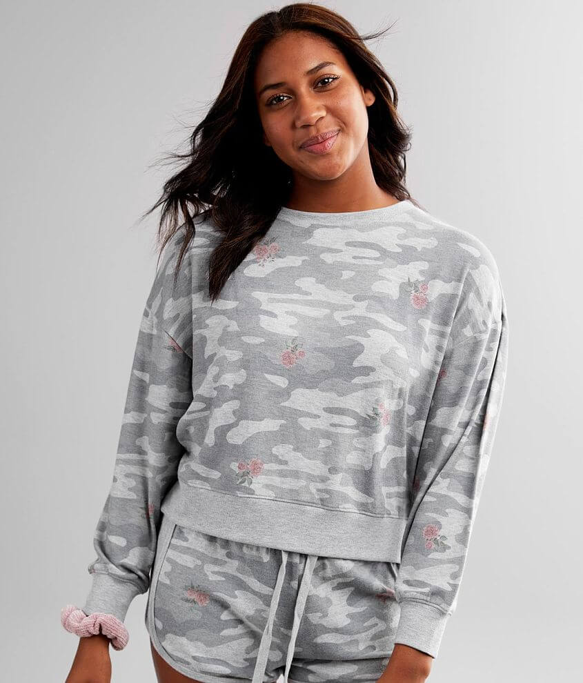 White Crow Elle Rose Camo Pullover front view