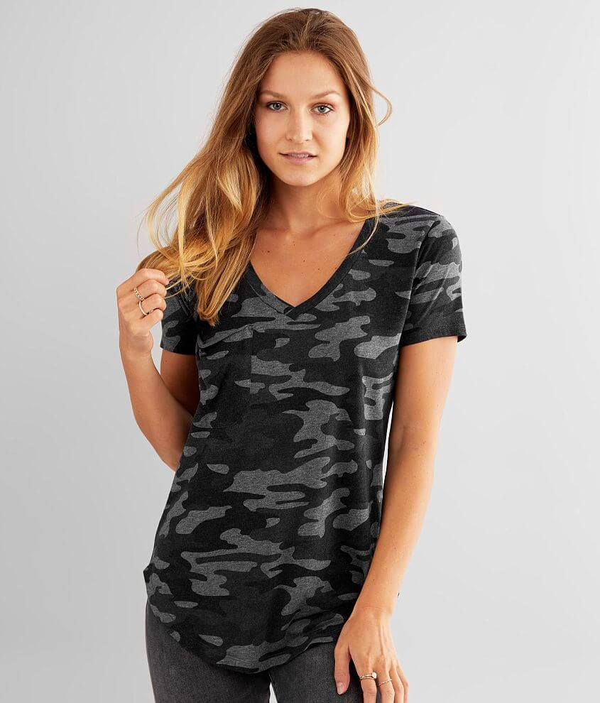 White Crow Camo Pocket T-Shirt front view