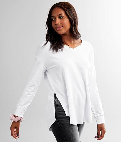 White Crow V-Neck Weekender Pullover