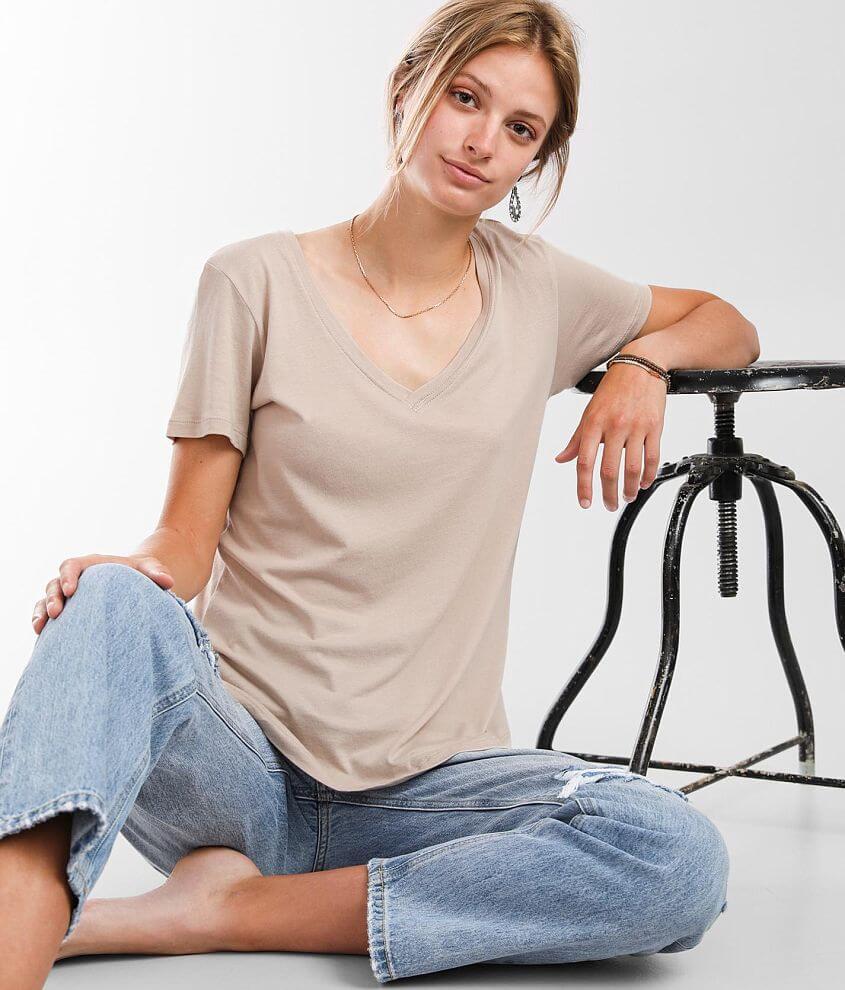Z Supply Kasey Modal V-Neck T-Shirt front view