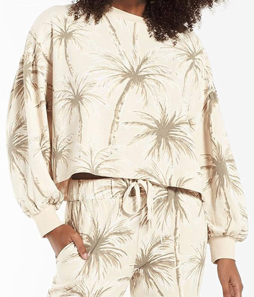 Z Supply Coconut Palm Tempest Sweatshirt front view