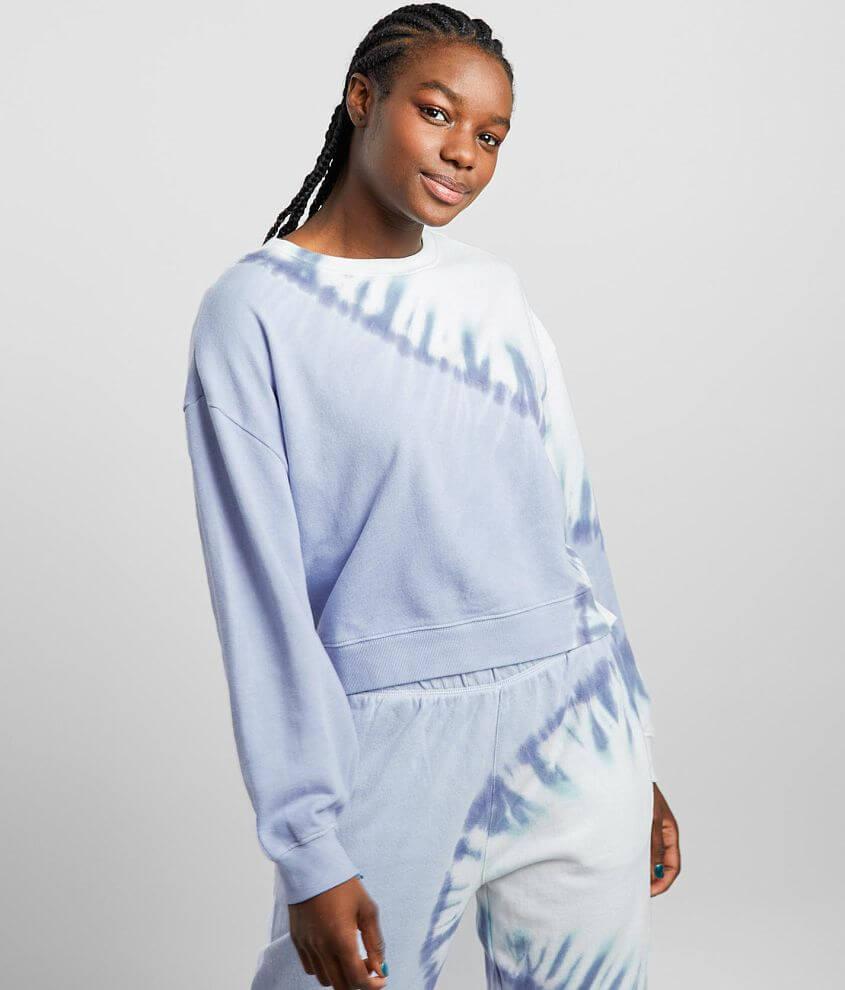 Z Supply Sunburst Tie Dye Pullover front view