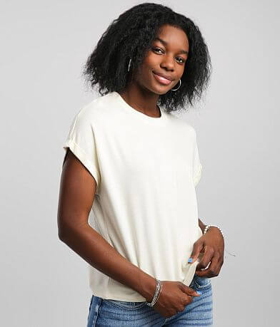 Z Supply French Terry Crew Neck T-Shirt