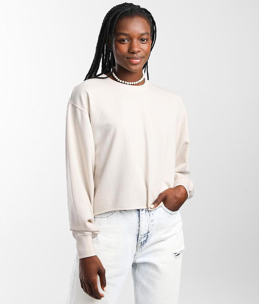 Z Supply Clair Cropped Pullover Sweatshirt front view