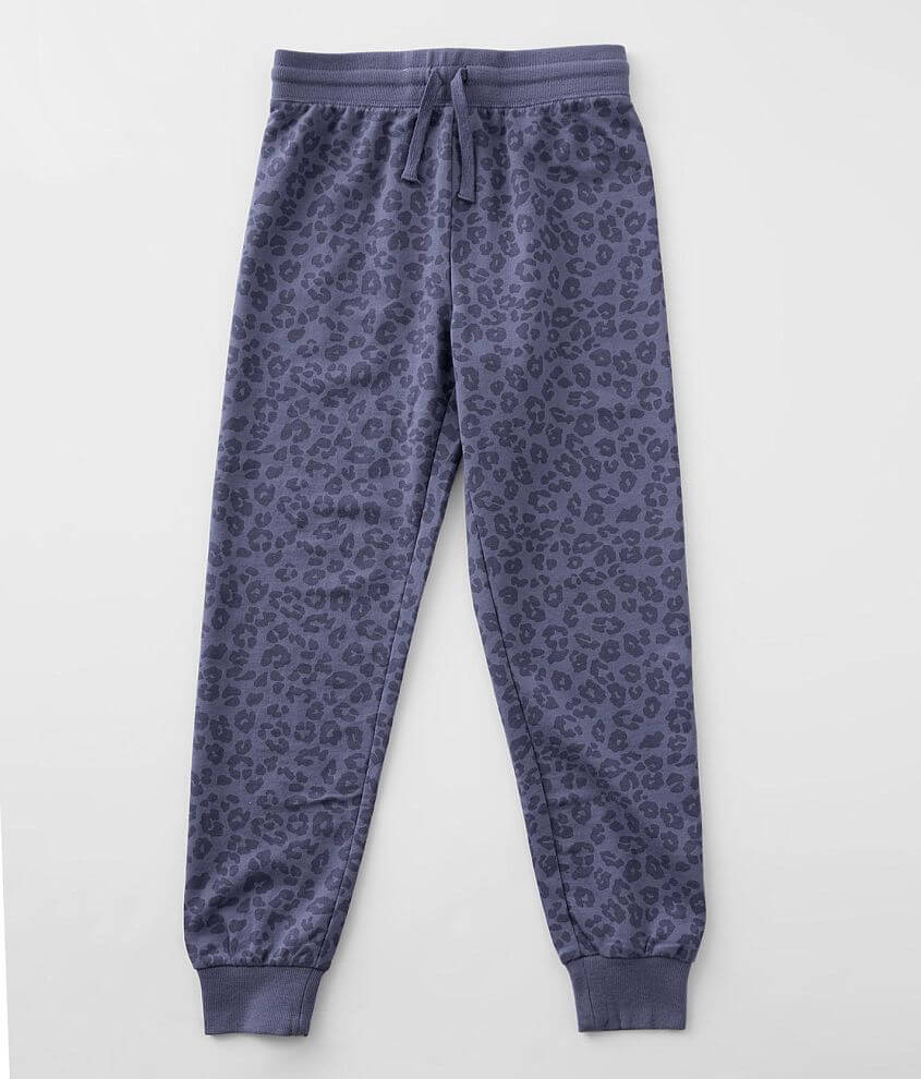 Girls - Z Supply Ava Leopard Jogger front view