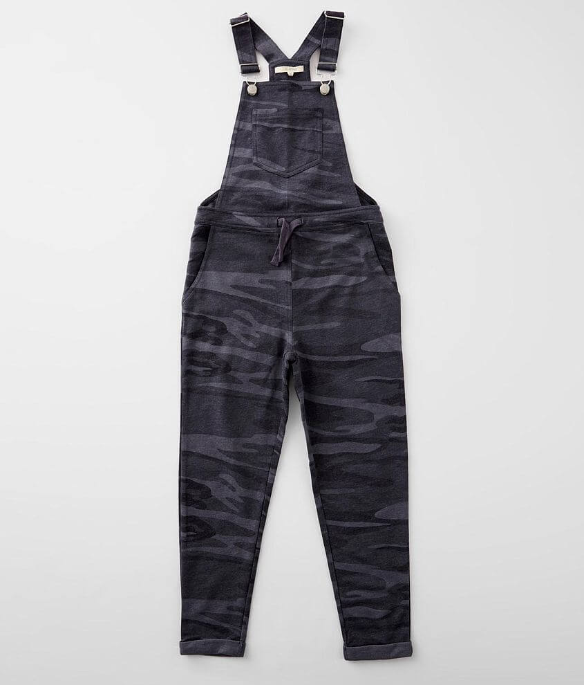 Girls - Z Supply Blake Camo Cuffed Overalls front view