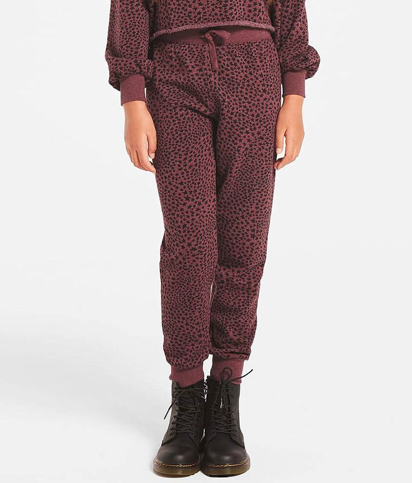 Girls - Z Supply Ava Star Print Jogger Sweatpant front view