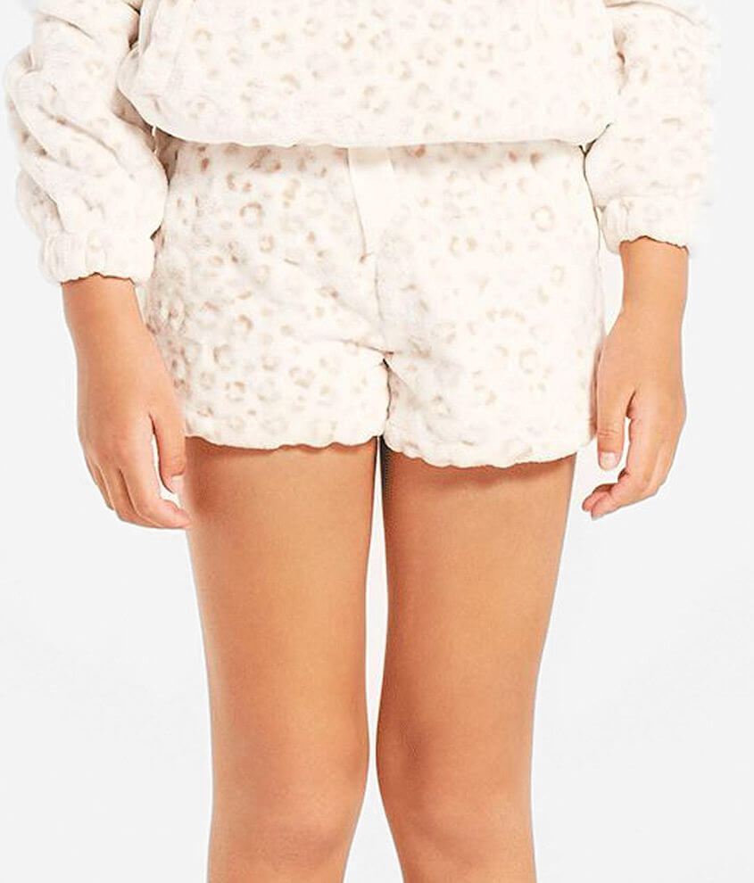 Girls - Z Supply Stella Frosted Leopard Short front view