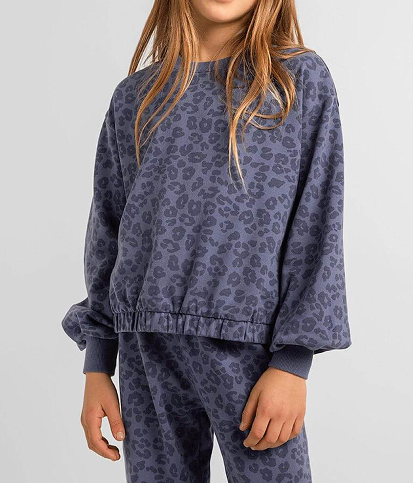 Girls - Z Supply Carmen Leopard Pullover front view