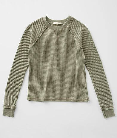 Girls - Z Supply Regan Waffle Knit Thermal