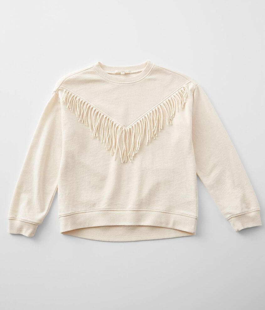 Girls - Z Supply River Fringe Pullover front view