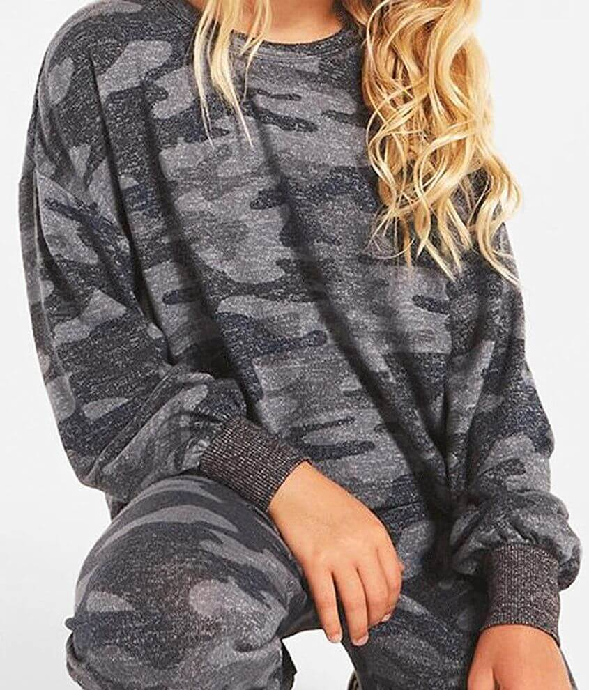 Girls - Z Supply Mayori Camo Pullover front view