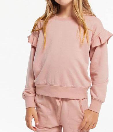 Girls - Z Supply Alana Ruffle Pullover