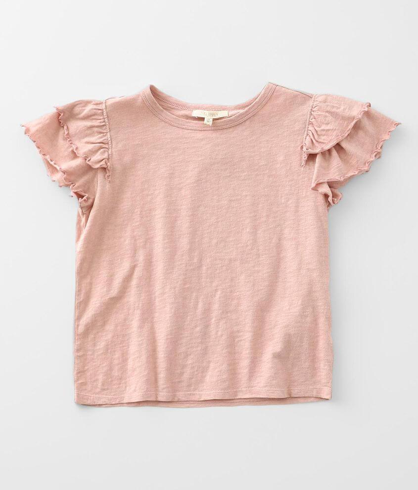 Girls - Z Supply Lila Ruffle T-Shirt front view