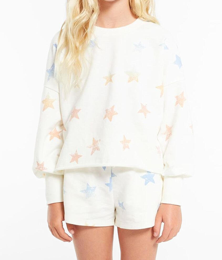 Girls - Z Supply Kira Star Pullover front view