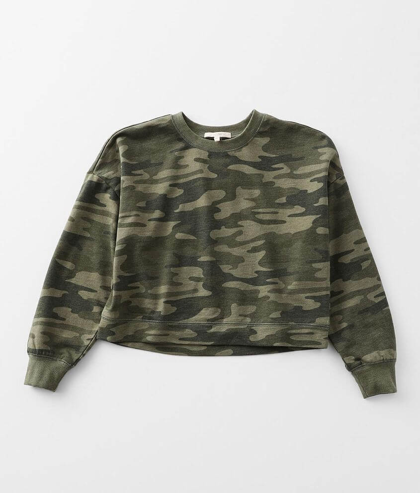Girls - Z Supply Mila Camo Pullover front view