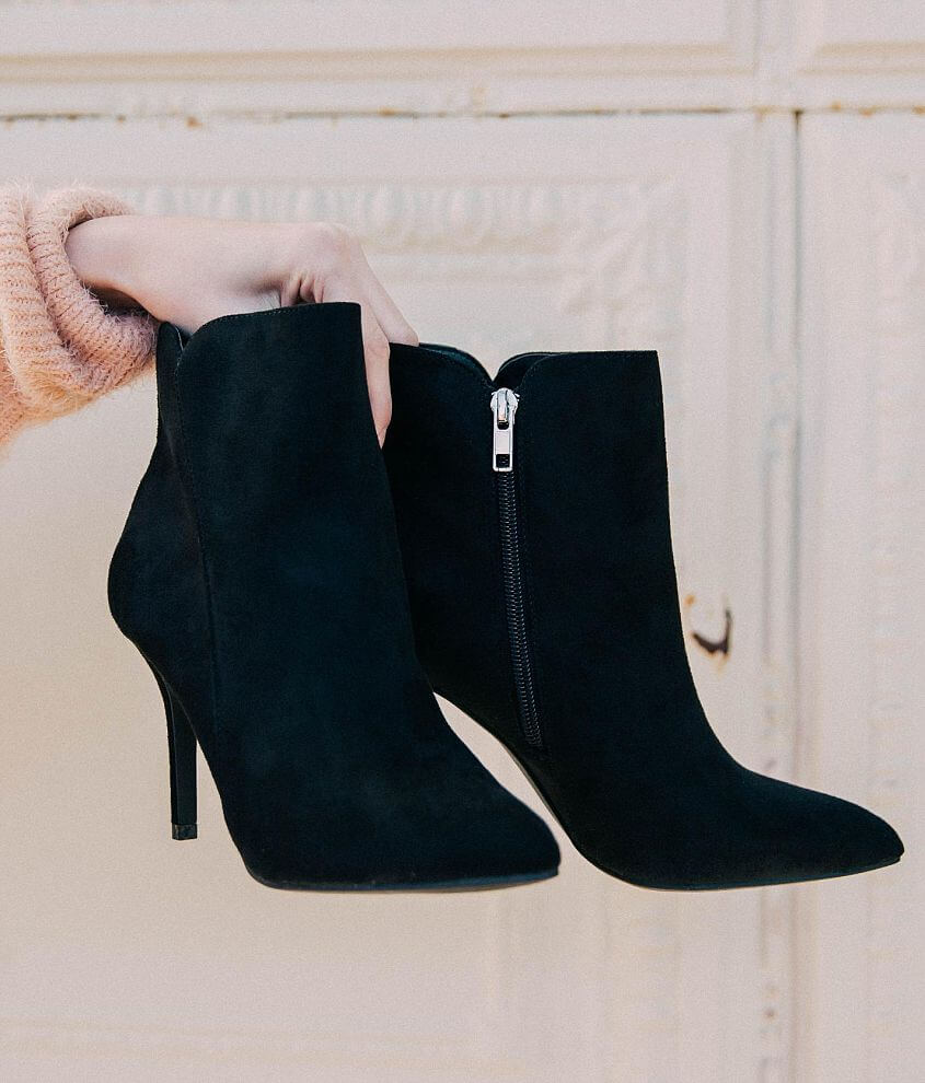 f9475fa050 Zigi Soho Faux Suede Pointed Ankle Boot - Women's Shoes in Black ...