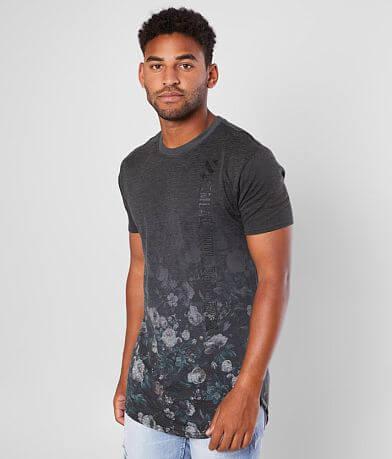 M.Lab Floral Dip Dye Segmented T-Shirt